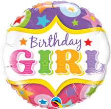'Birthday Girl' Circus Foil Balloon